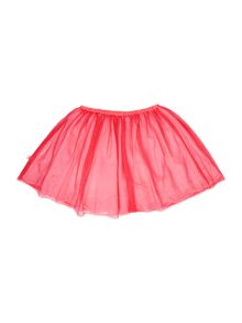Girls Pink Tulle and Cotton Skirt