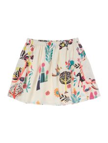 Billieblush Girls Printed Crepe Skirt with Pockets