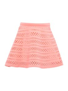 Billieblush Girls Pink Laser Cut Neoprene Skirt