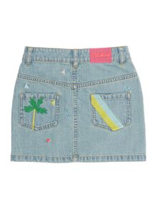 Billieblush Girls Denim Patchwork Skirt