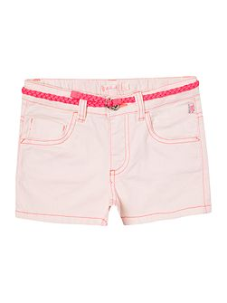 Girls Cotton Drill Shorts with Belt