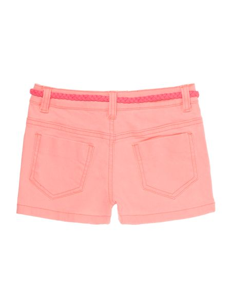 Billieblush Girls Cotton Drill Shorts with Belt