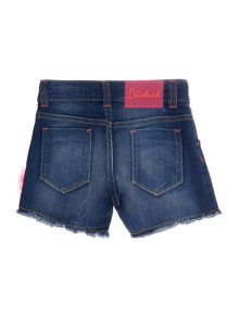 Girls Denim Shorts with Tulle Details