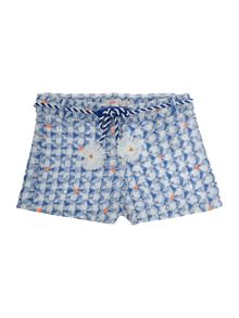 Billieblush Girls Blue Embroidered Shorts
