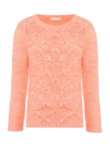 Billieblush Girls Sweater with Pearl Embellishment