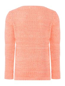 Girls Sweater with Pearl Embellishment