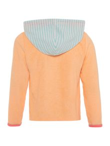 Billieblush Girls Terrycloth Zip-Up Top