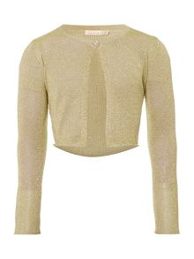 Girls Cropped Metallic Cardigan