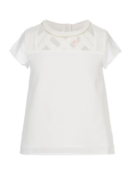 Billieblush Girls Blouse with Cut out Detail