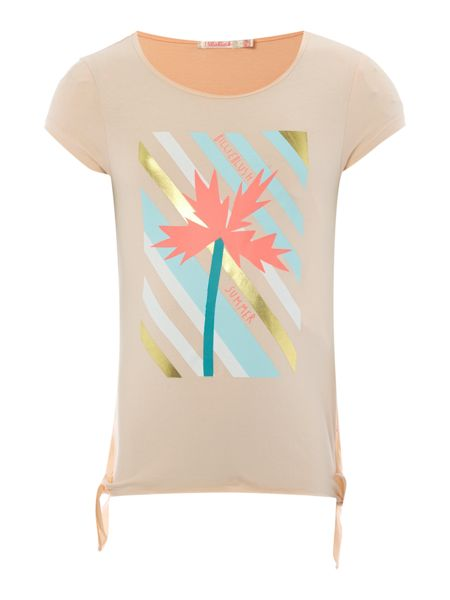 Billieblush Girls T-Shirt with Palm Tree Print
