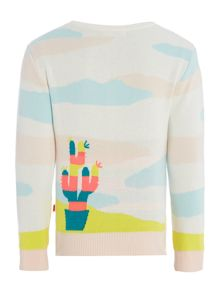 Billieblush Girls Cardigan with Cactus design