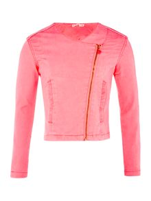 Billieblush Girls Pink Collarless Jacket