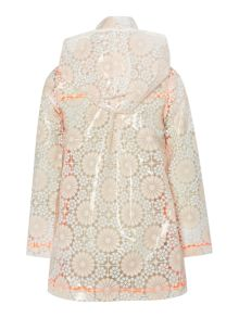Billieblush Girls Raincoat with Floral Motif