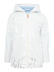 Billieblush Girls Raincoat with Billieblush Logo