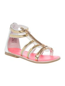 Billieblush Girls gold gladiator sandals