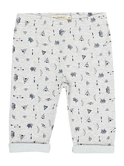 Baby boys Reversible jersey trousers