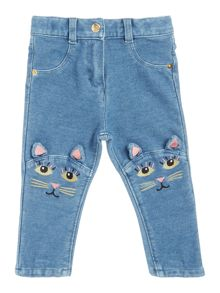 Little Marc Jacobs Baby girls Knees cat trousers
