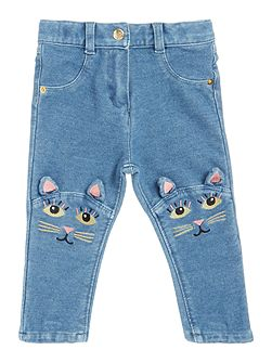 Baby girls Knees cat trousers
