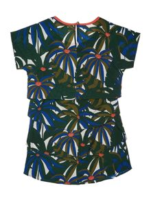 Little Marc Jacobs Girls Jungle printed dress