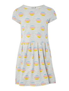 Little Marc Jacobs Girl Different dip dye circles dress