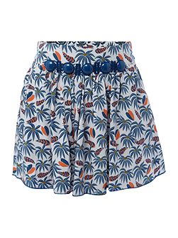 Girls All over printed jungle skirt