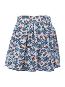 Little Marc Jacobs Girls All over printed jungle skirt
