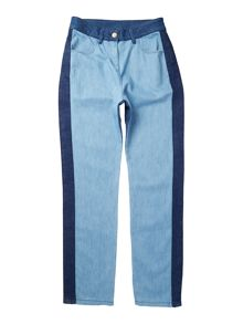 Little Marc Jacobs Girls Denim trousers with darker yoke