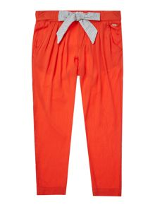 Little Marc Jacobs Girls Pleated trousers with jersey belt
