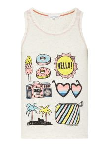 Little Marc Jacobs Girls Slab jersey tank top