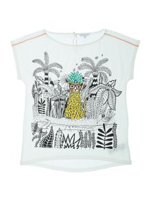Girls Illustrated short sleeved t-shirt