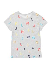 Little Marc Jacobs Girls Illustrated short sleeved t-shirt
