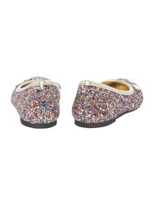Little Marc Jacobs Girls Glittered mouse ballerina shoes