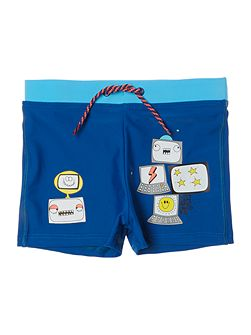 Boys Swimsuit with fancy illustrations