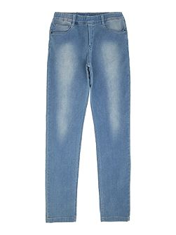 Boys Fleece trousers with denim effect