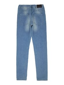 Little Marc Jacobs Boys Fleece trousers with denim effect