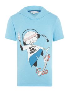 Little Marc Jacobs Boys Short sleeved hooded t-shirt