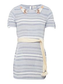 Carrement Beau Girls Striped dress