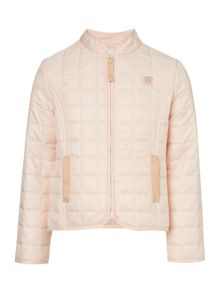 Carrement Beau Girls Coated quilted hunting jacket