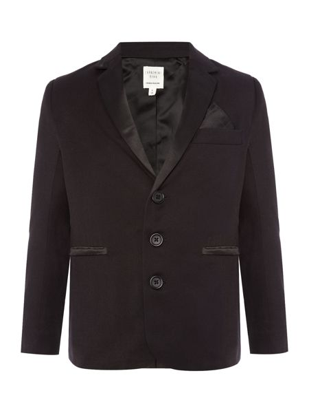 Carrement Beau Boys Twill and satin suit jacket