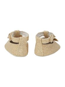 Carrement Beau Baby girls Glittered ballerina shoes
