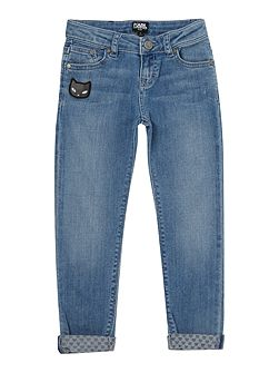 Girls Denim slim trousers