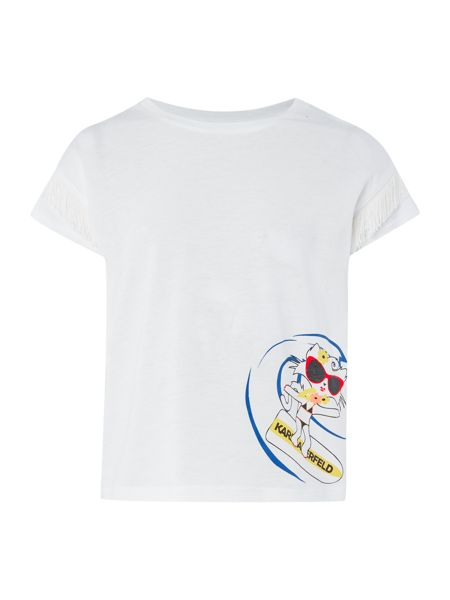 Karl Lagerfeld Girls T-shirt with zipped back