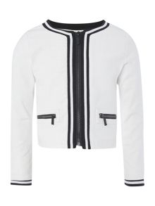 Karl Lagerfeld Girls Tweed effect jacket