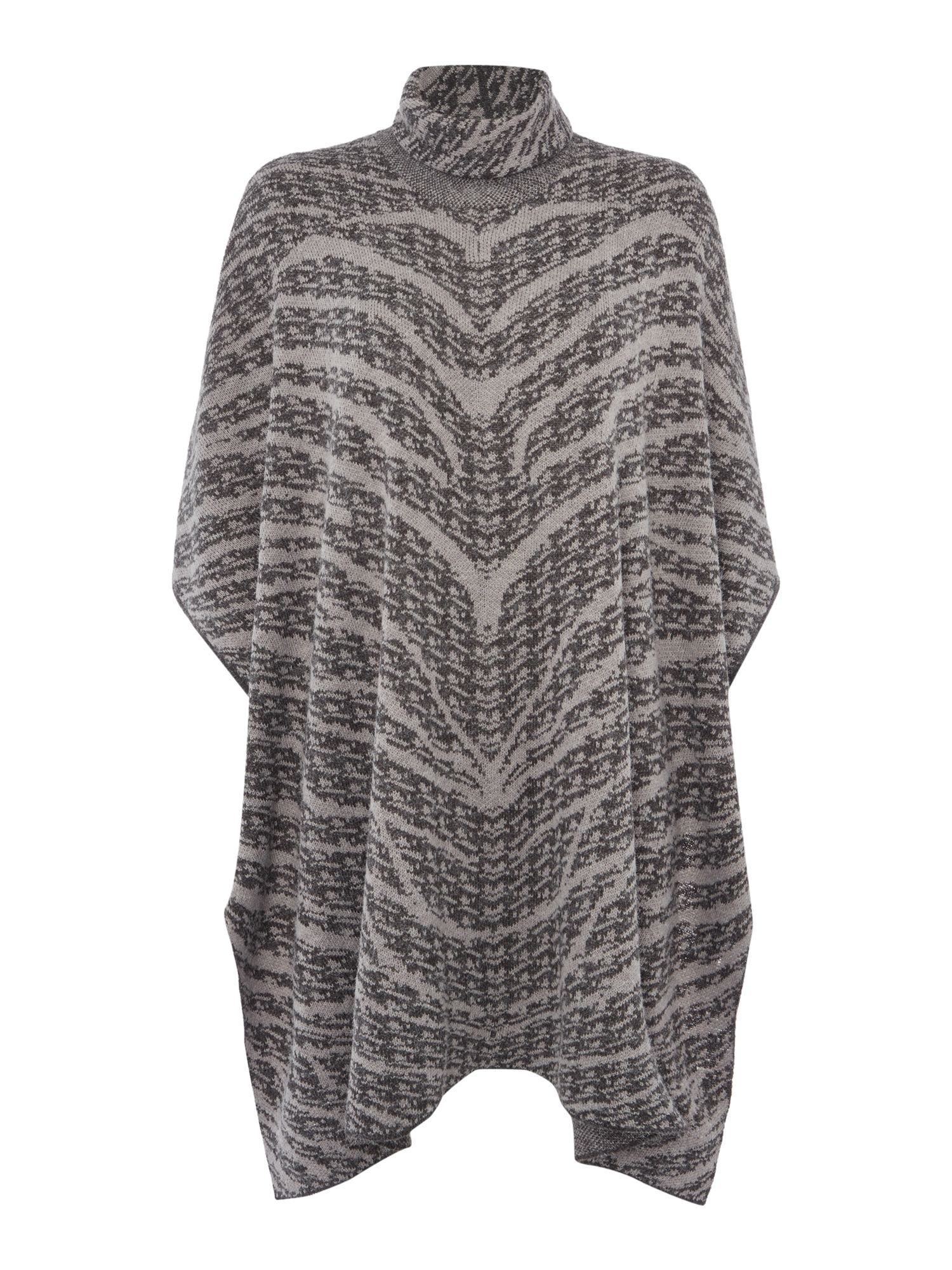 Gray & Willow Gray & Willow Marble jacquard poncho, Grey