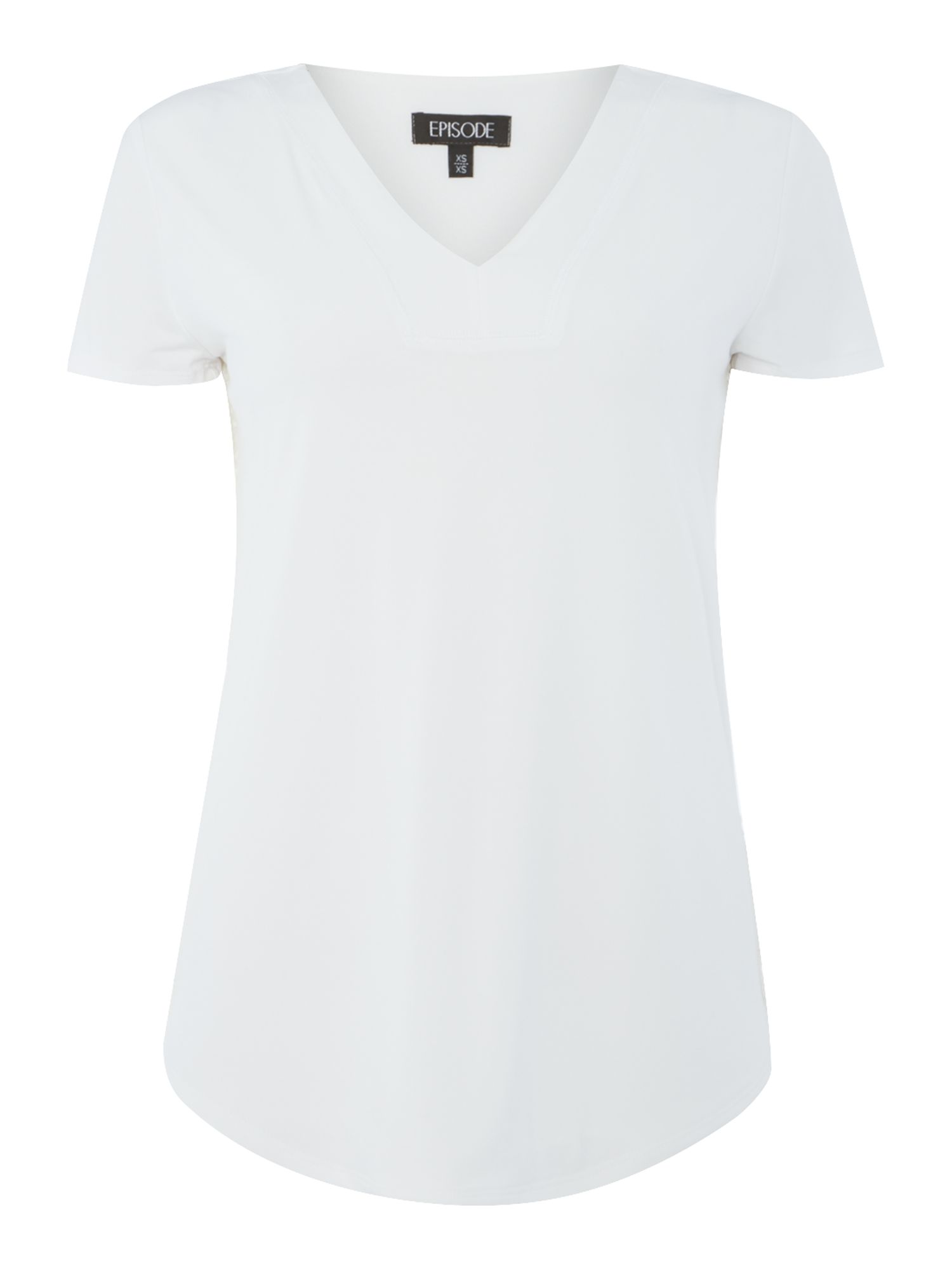 Episode Episode Short sleeve lace back woven top, White