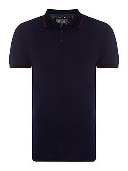 Walden Black Collar Pique Polo