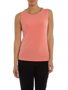 Episode Sleevess top with neck detail