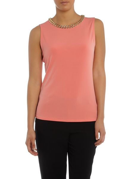 Episode Sleevless top with chain neck detail