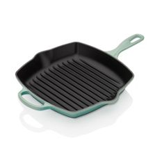 Le Creuset Signature Cast Iron Square Grillit 26cm Cool Mint