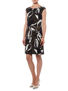 Linea Autumnal leaf print tunic dress